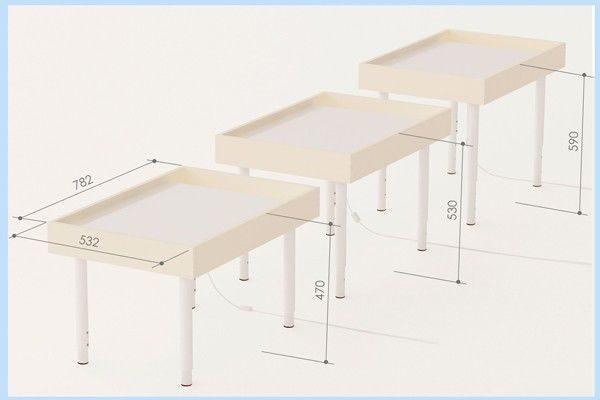 Стол для песочной терапии своими руками размеры